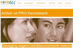 Voorbeeldpagina: ontslag om bedrijfseconomische redenen